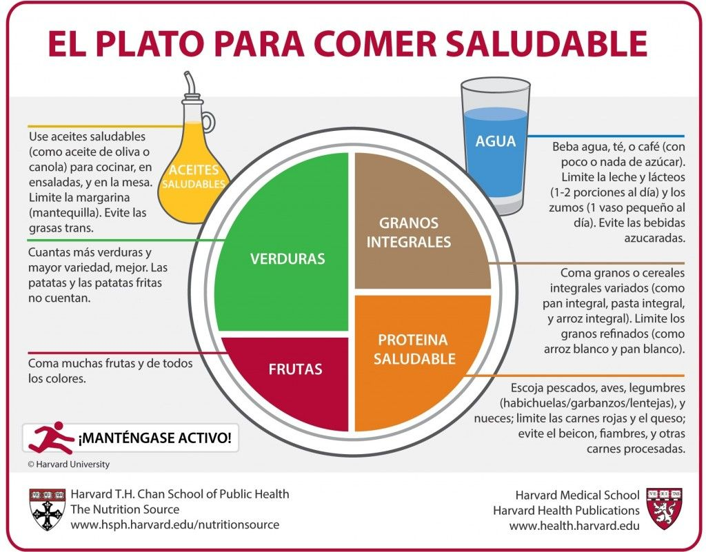 Dieta saludable Harvard Medical School
